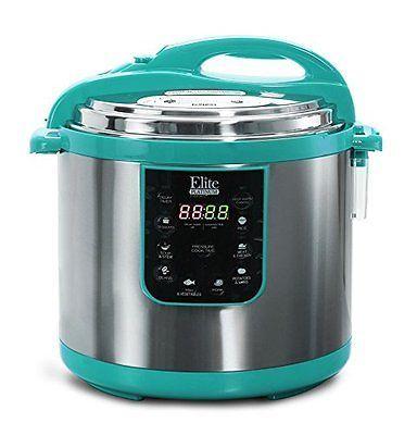 Elite Platinum EPC-1013T Maxi-Matic Electric Pressure Cooker, 10 quart,
