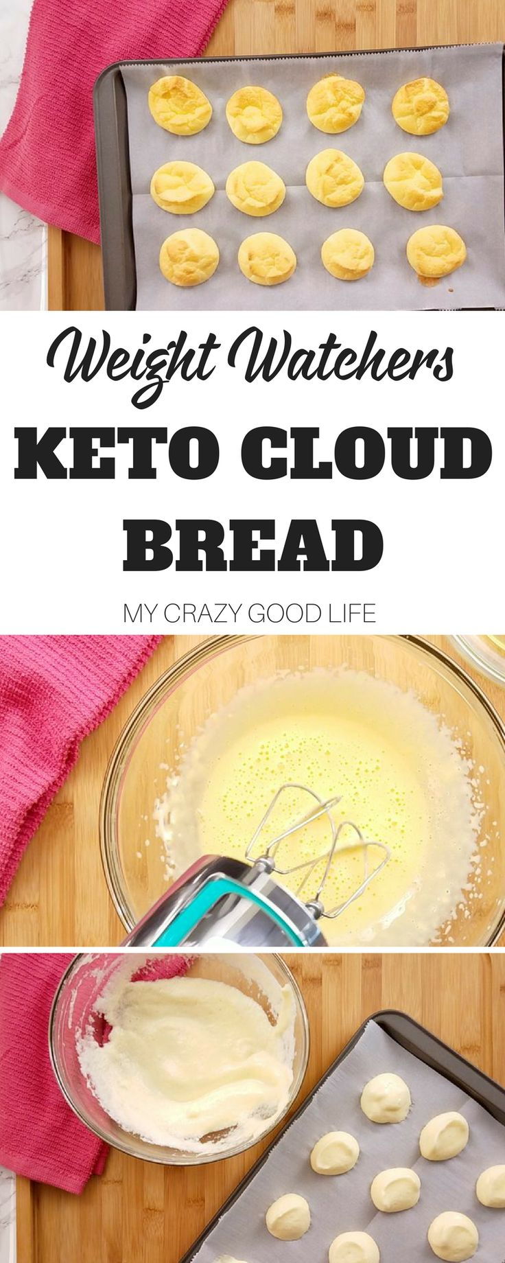 The new Weight Watchers Freestyle program allows for a lot of things, bread isn't really one of them. This recipe for Weight Watchers keto cloud bread is super low in carbs and points! #weightwatchers #smartpoints #freestyle #recipes via @bludlum