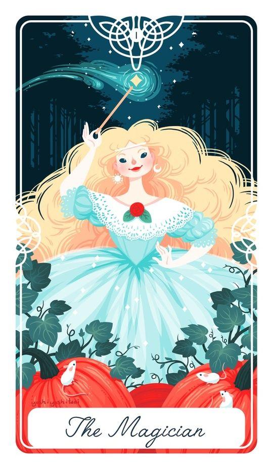 1 - The Magician : Fairytale Tarot byy Yoshi Yoshitani