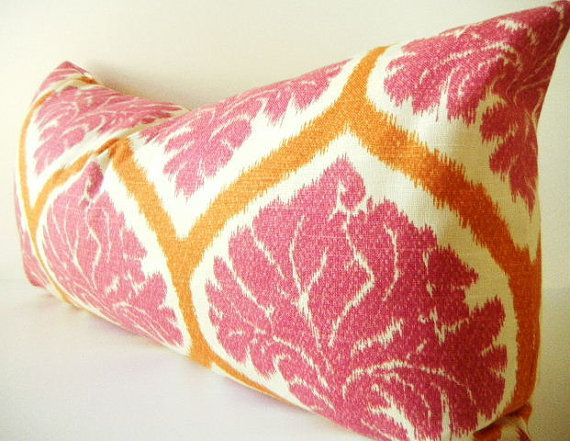 long pink pillows large pink bolster pillow by