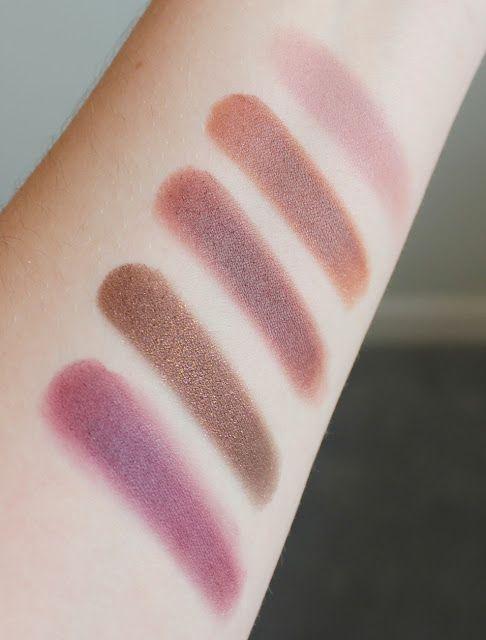 "Colourpop shadows in shades ""Bill"" ""Bandit"" ""Mittens"" ""Mooning"" ""Hustle"" swatches"