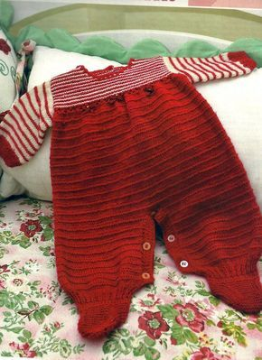 Receita Tricô Fácil Macacão para bebê -Receita Revista Online -Peça linda para Recém Nascido.       Receita completa trico bebe macacão par...
