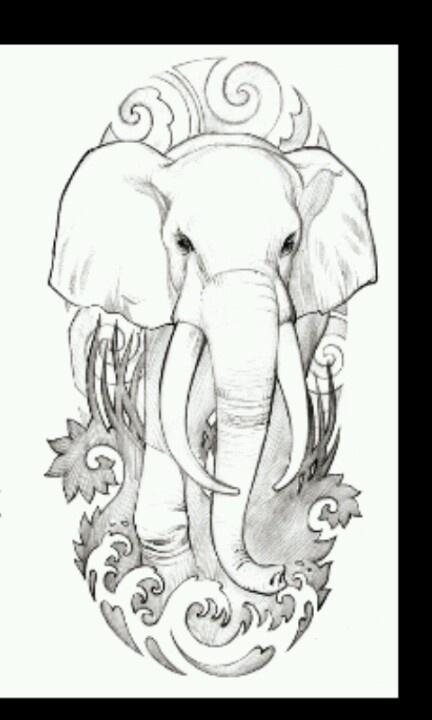 Elephant. Tattoo