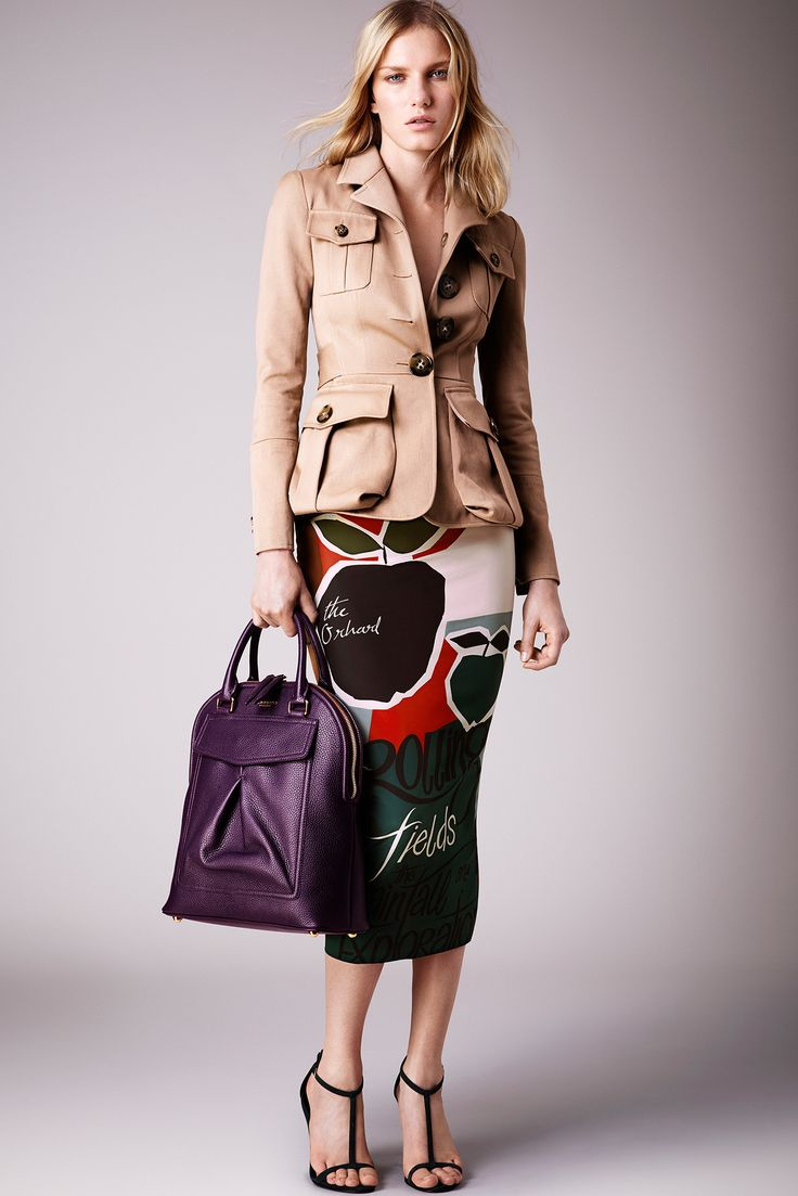 Burberry Prorsum Resort 2015 - Collection - Gallery - Style.com. CUP & PENNY: The pockets as peplum are growing on me. Try one without the chest pockets, and puffier sleeve gathers.
