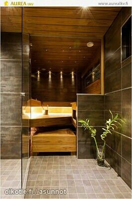 Sauna and bathroom