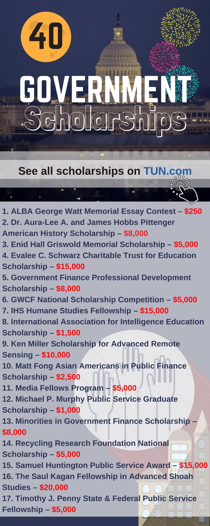 Here is a selection of Government Scholarships