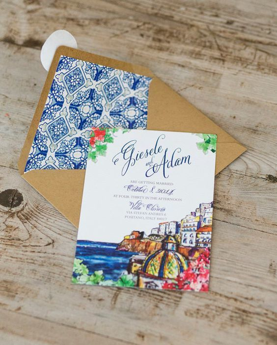 The 25 best Italian wedding invitations ideas on Pinterest