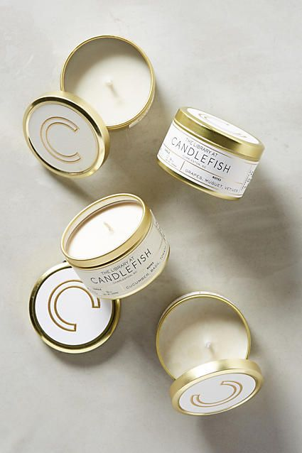 Candlefish Candle Tin - anthropologie.com                                                                                                                                                                                 More