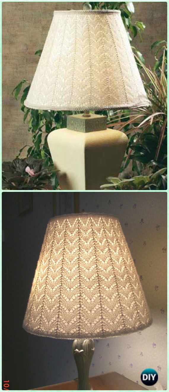Crochet Lacy Lamp Shade Free Pattern - Crochet Lamp Shade Free Patterns