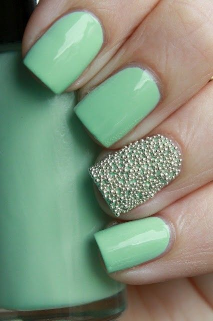 Mint Caviar Nails