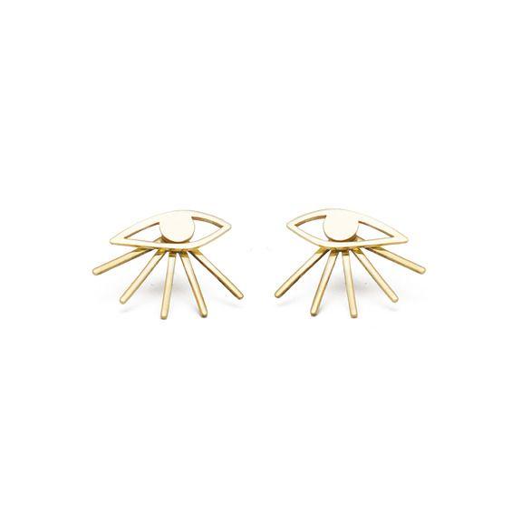 Mini eye earrings /GOLD PLATED - KOPI- Natalia kopiszka -