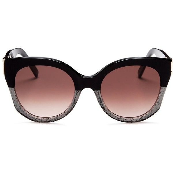 Marc Jacobs Round Sunglasses, 53mm ($230) ❤ liked on Polyvore featuring accessories, eyewear, sunglasses, round frame glasses, marc jacobs eyewear, round sunglasses, marc jacobs and round frame sunglasses