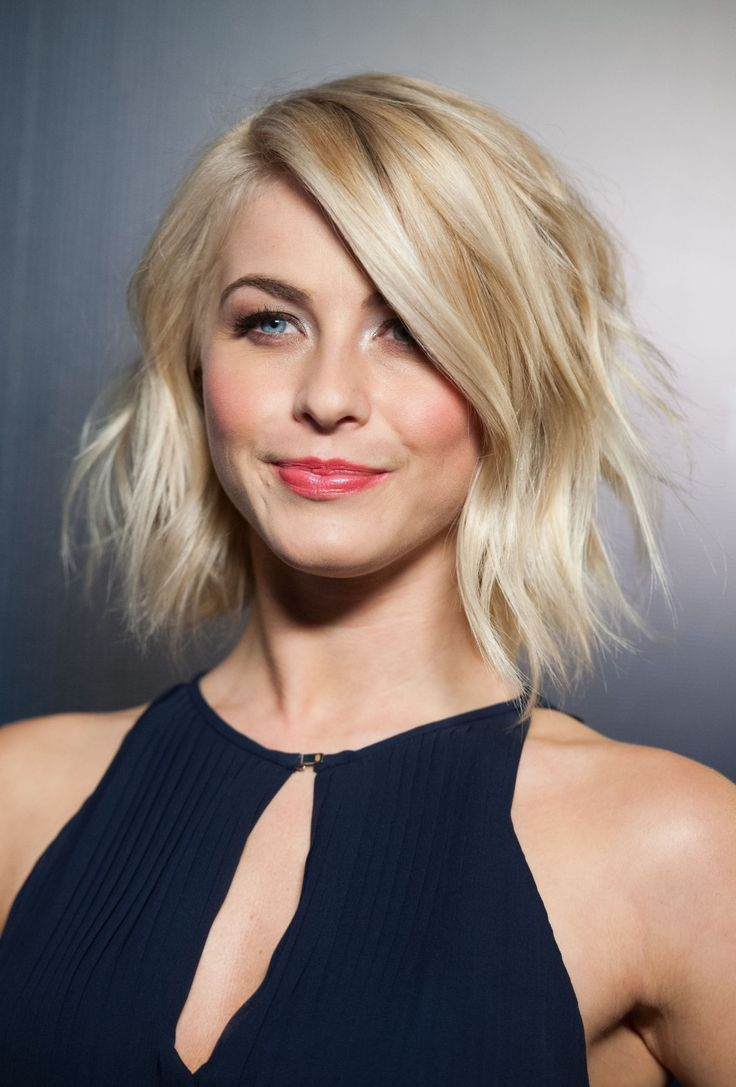 Julianne hough s short hair updo popsugar beauty - If You Have An Oval Face Shape And Want To Opt For A Short Haircut Then Make Like Julianne Hough And Opt For A Shaggy Bob