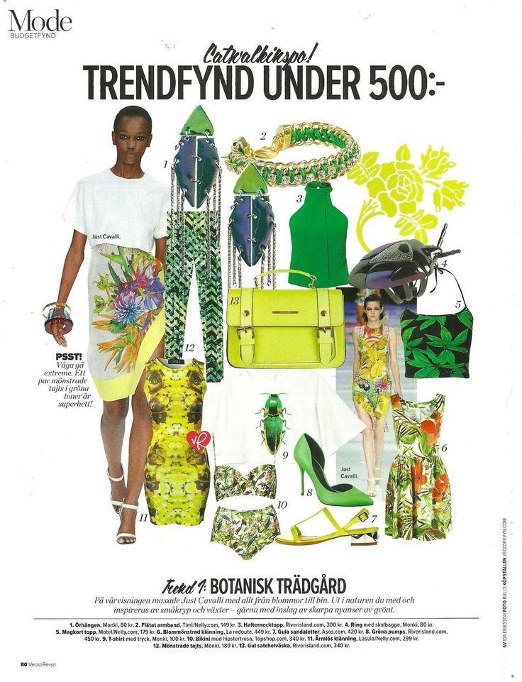 Timi inspiration from swedish magazine Vecko Revyn  #Veckorevyn #Inspiration #Fashion #Trendy #Yellow #Green