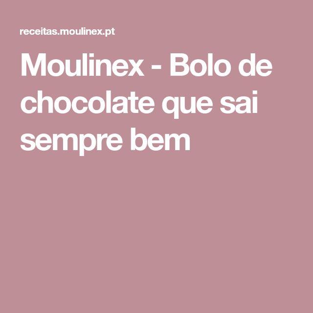 Moulinex - Bolo de chocolate que sai sempre bem