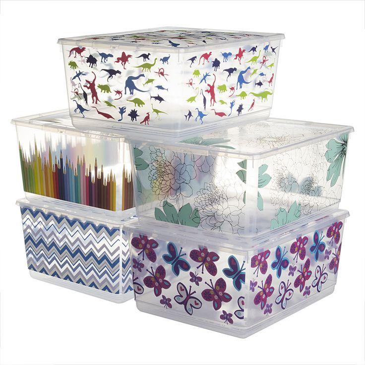 6pk KIS UrBin Large Plastic Storage Bins With Lids Home Organization Containers #KISUrBin