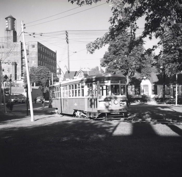 Toronto Transit Commission, McCaul Loop, McCaul Street, east side, north of Renfrew Place, 1957