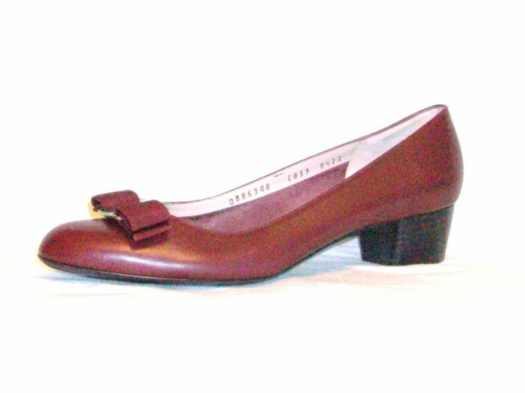 SALVATORE FERRAGAMO shoes LEATHER red HEELS Florence ITALY Womens SIZE 8.5
