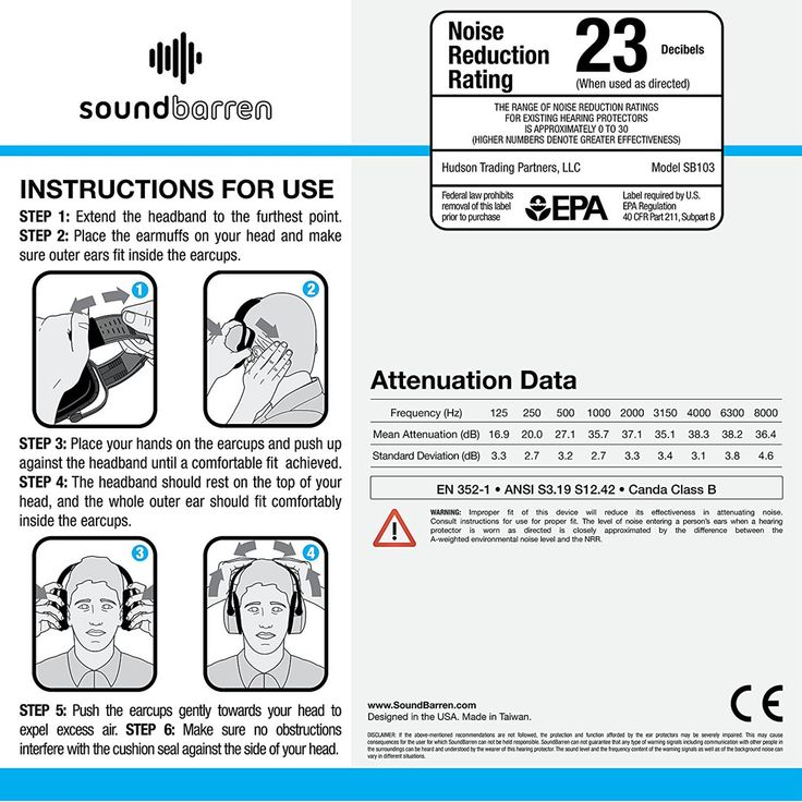 Professional Ear Safety Muffs for Hearing Protection