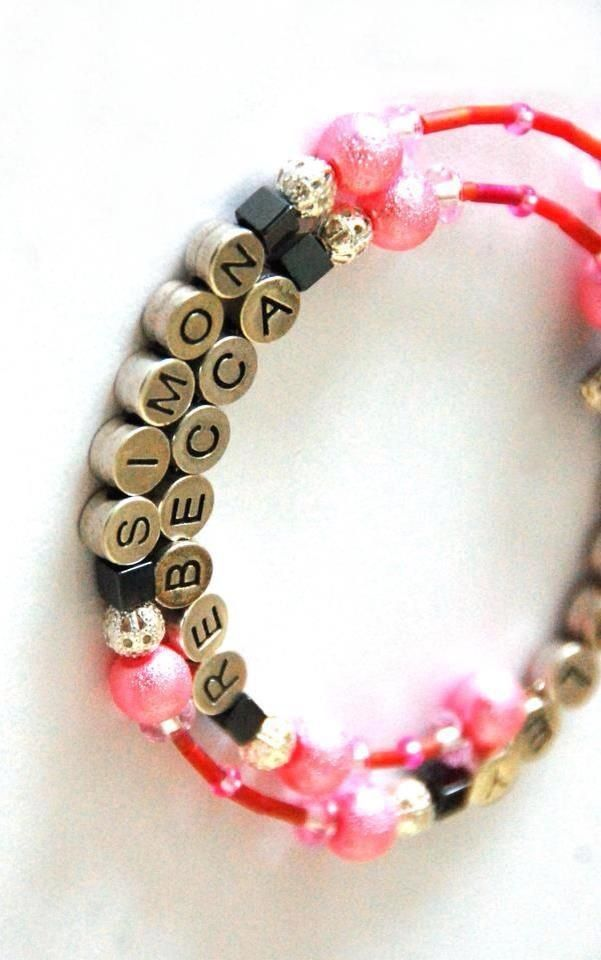 Personalised bracelet with three names added