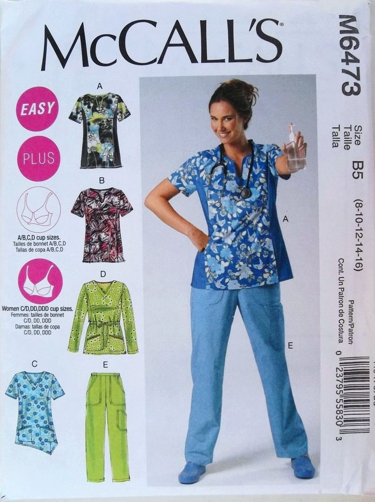 .5 Top Sewing Patterns for Scrubs.  (Keep clicking)  Print out for reference.