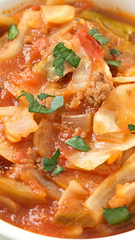 Unstuffed Cabbage Roll Soup ~ Incredibly easy and the flavor is out-of-this-world!