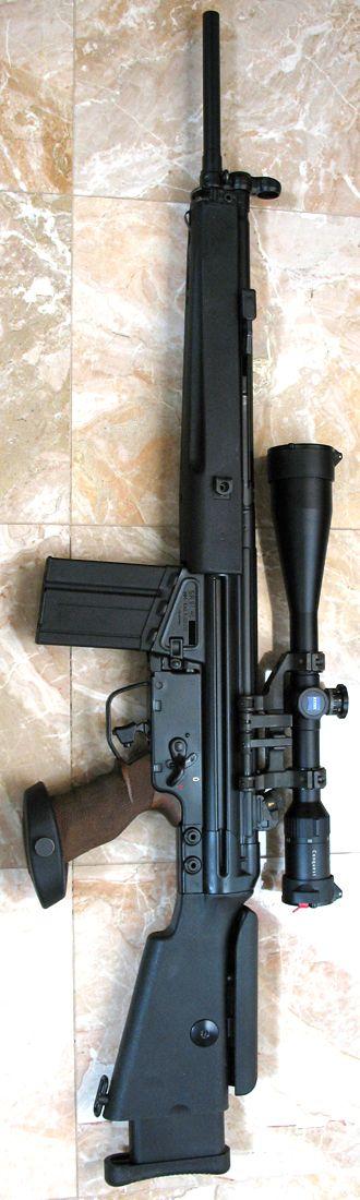 HK SR9T sniper rifle for longer range accuracy. #bestairriflereviews…