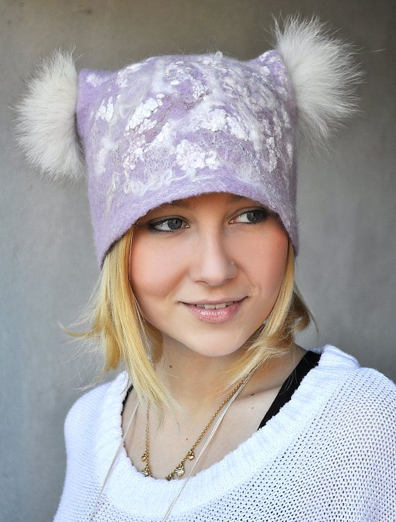 Handmade Felted Hat Viola by ShellenD on Etsy, $90.00