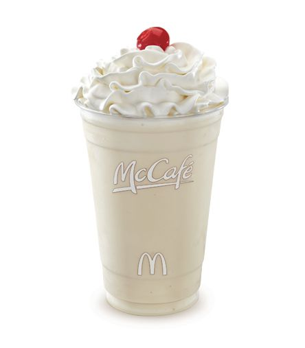 Vanilla McCafé Shake (Small, Hold the whipped cream and cherry -both have HFCS)