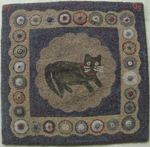 Dog Hooked Rugs: 45 Best Images About Cat And Dog Hooked Rugs On Pinterest