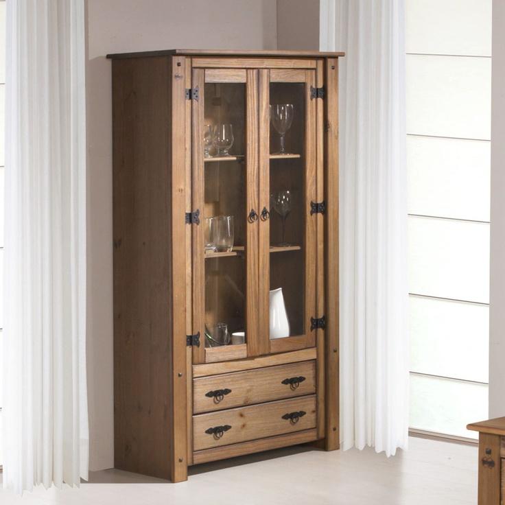Cristaleira 2 Portas Wood Madeira Natural - Serpil