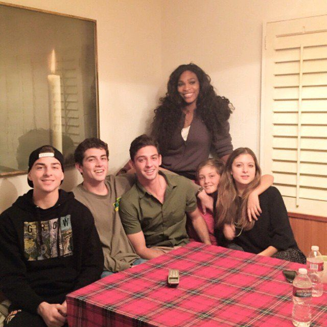 """Pin for Later: How Are Your Favorite Celebrities Spending Thanksgiving Weekend?  Serena Williams was all smiles with her """"second family."""""""