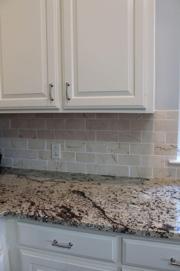 Black And White Mosaic Tile Backsplash