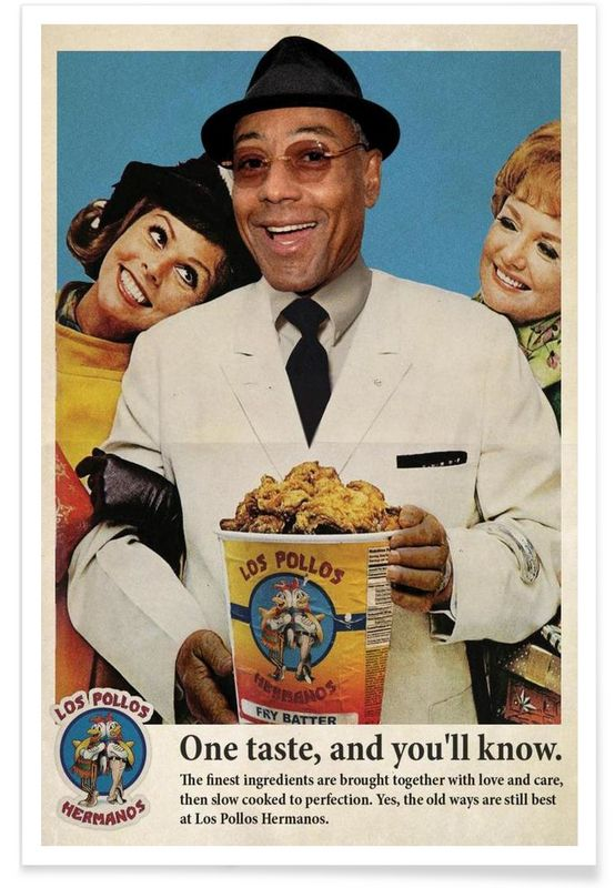 Pollos Hermanos as Premium Poster by Ads Libitum | JUNIQE