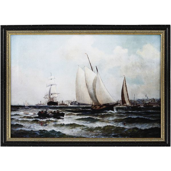 New York Harbor Painting ($110) ❤ liked on Polyvore featuring home, home decor, wall art, nocolor, ny wall art, colorful wall art, handmade wall art, handmade home decor and colorful home decor