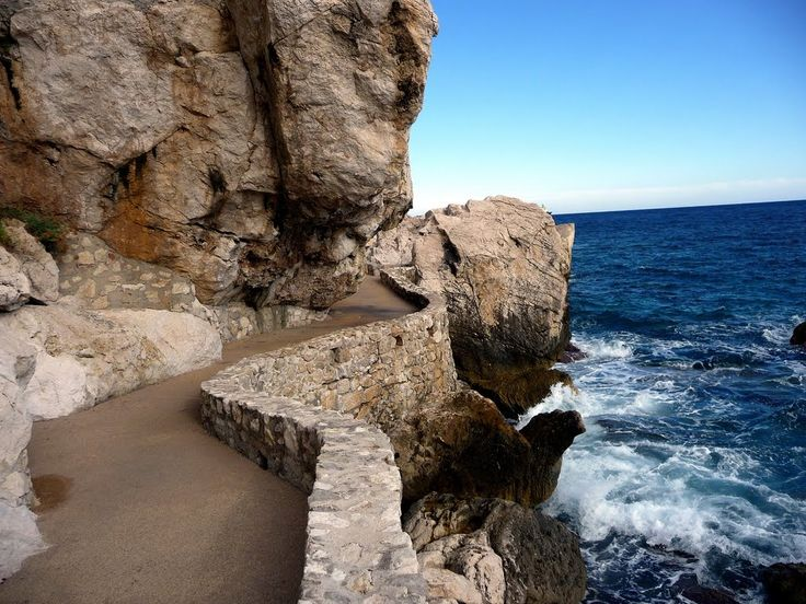 Il  sentiero litorale - Cap d'Ail - Costa Azzurra (Francia)