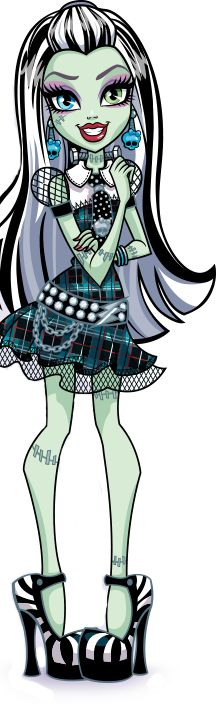 Monster High- Frankie Stein. New Profile art                                                                                                                                                                                 More