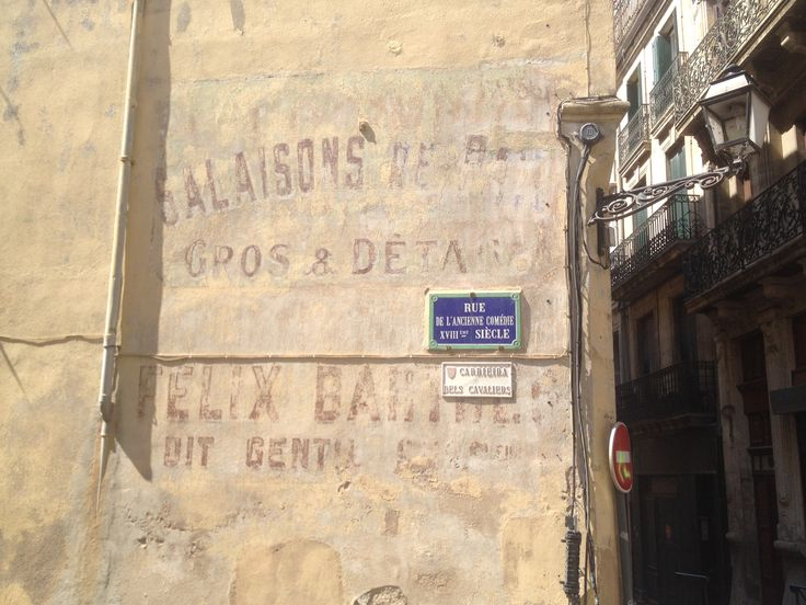 Ghost sign in Beziers, France
