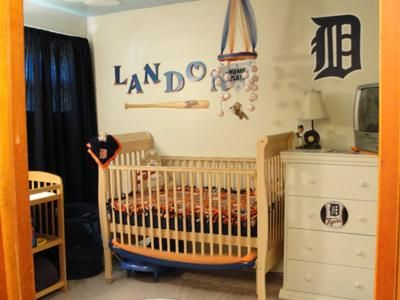 Detroit Tigers Baby Baseball Nursery Decor: We knew that had to have a Detroit Tigers Baby Baseball Nursery the moment we found out that we will be having a baby boy in October. We are huge Detroit