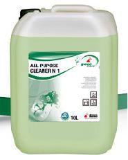 Tana All Purpose Cleaner No1 solutie profesionala biodegradabila pentru toate suprafetele. PH neutru, protejeaza pielea.