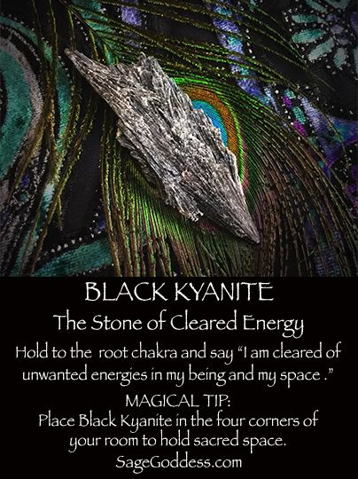 #BlackKyanite is the stone of cleared energy #metaphysical #SageGoddess…