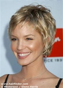 Short highlighted hair