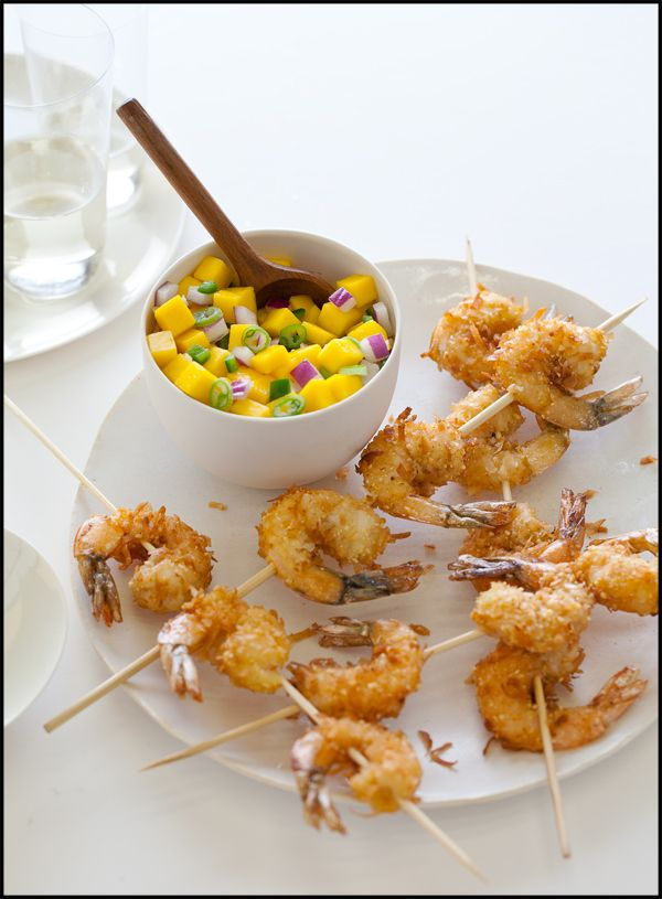Coconut Shrimp with Mango Salsa