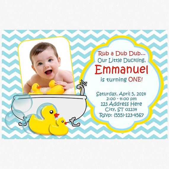 127 best Brents 1st birthday images – Rubber Duck Birthday Invitations