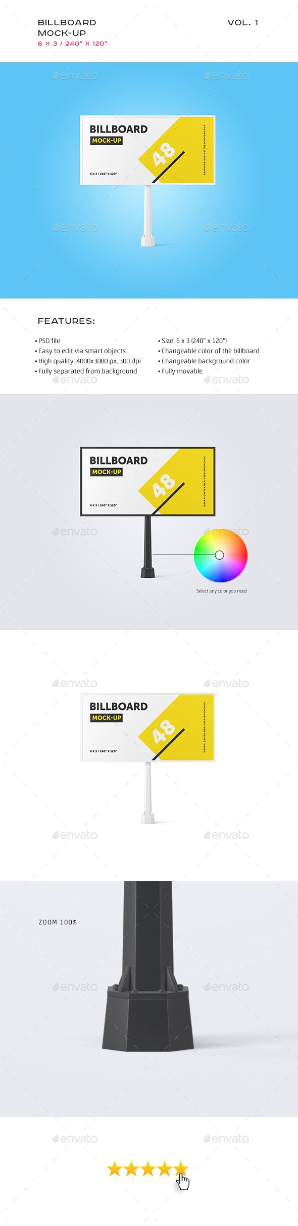 Studio Billboard Mock-up 63 vol.1 Billboard with super high quality 40003000 pixels 300DPI. It is fully separated from background