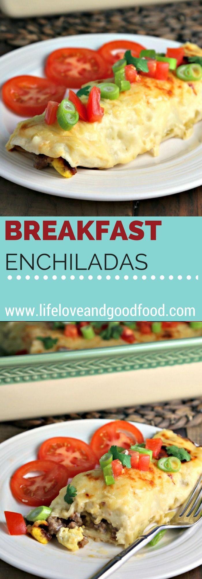 Breakfast Enchiladas | Life, Love, and Good Food #casserole #recipe http://lifeloveandgoodfood.com/breakfast-enchiladas/