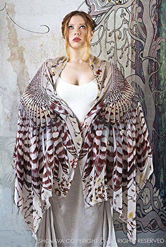 Amazon.com: Day Owl Wings Scarf Wrap, 100% Cotton Scarf, Large Shawl, Tribal Scarf, Sarong Wrap, Oversized Scarf, Bridesmaid Gift: Clothing