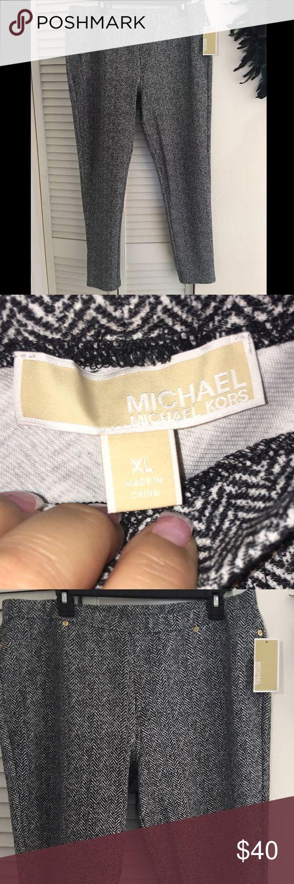 Michael Kors herringbone chevron pants pull on XL Nwt. Size XL. Michael Kors. Pull on. Ships fast. Smokefree. MICHAEL Michael Kors Pants Skinny