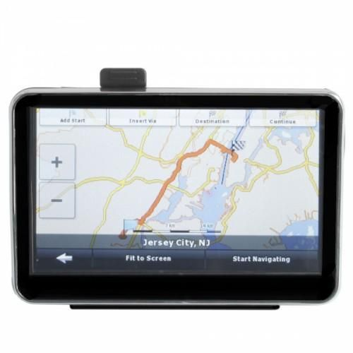 "Car GPS  Navigator Built  USA & Canada & Mexico Map 5.0"" TFT Touch Screen"