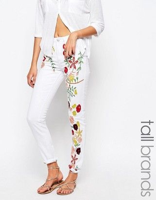 Glamorous Tall Embroidered Girlfriend Jean